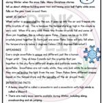 Seasonal Snow Christmas Comprehension - Reading Strategy