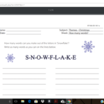 Snowflake - How Many Words?