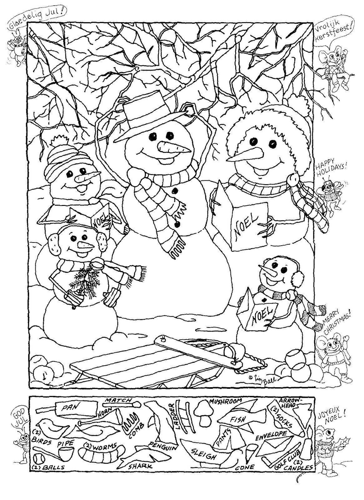 Snowman Hidden Picture Puzzle For Christmas! | Christmas