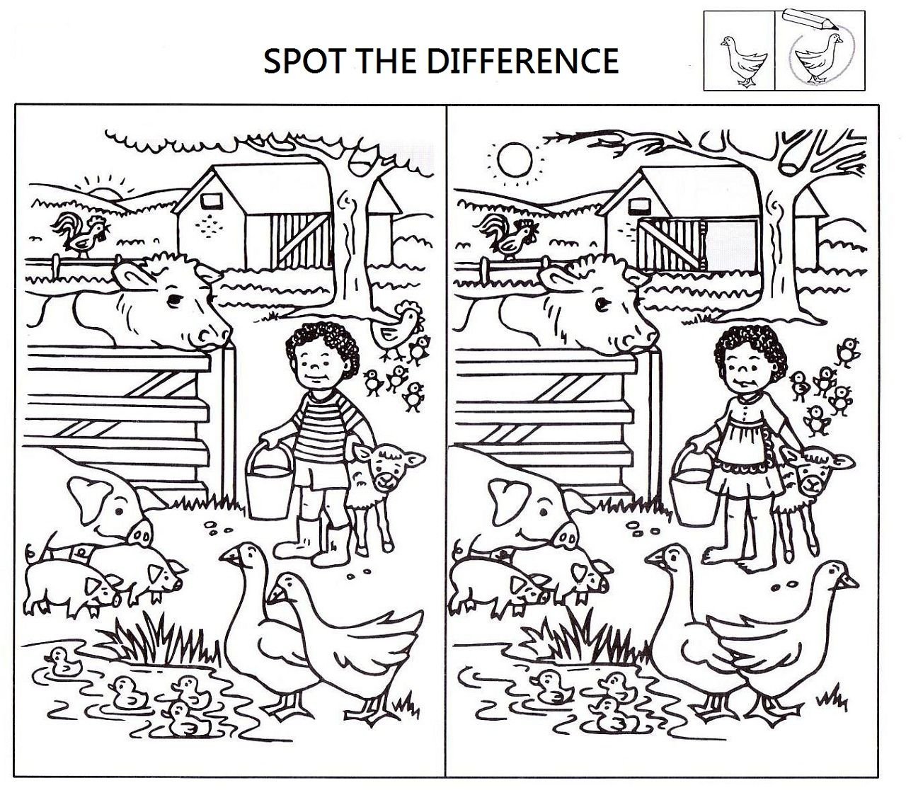 Spot The Difference Worksheets For Kids | Worksheets For
