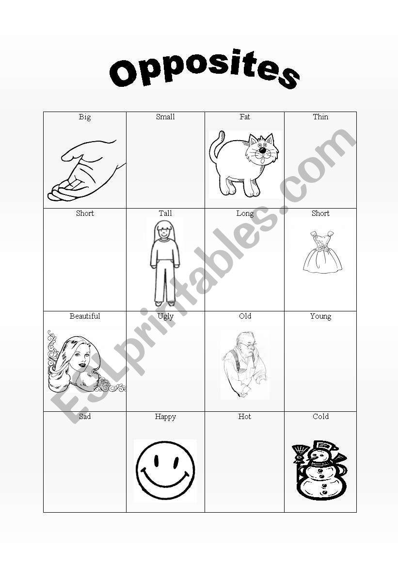 Staggering Opposites Worksheets For Kindergarten Pdf