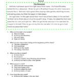 Story Retell-The Sleepover Worksheet