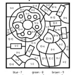 Subtraction Colornumber | Math Coloring Worksheets, 2Nd