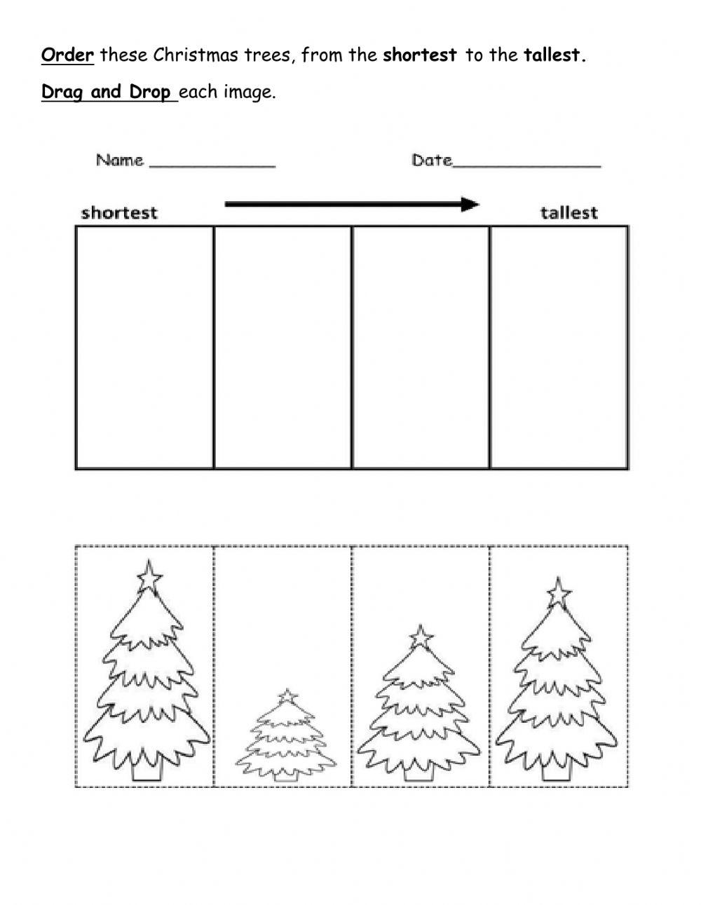 Tallest And Shortest Worksheet
