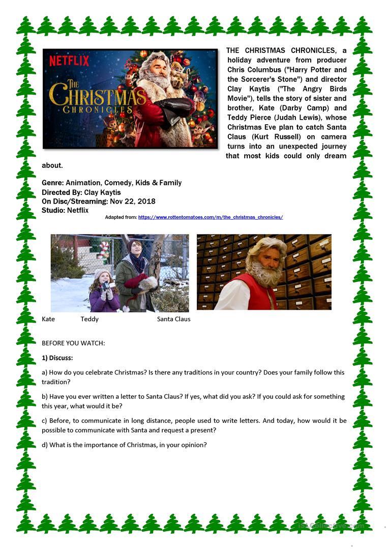 The Christmas Chronicles - Movie Activity - English Esl