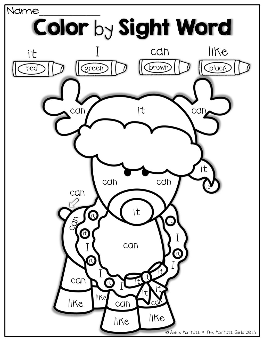 The Moffatt Girls: Christmas No Prep Packet (Kindergarten