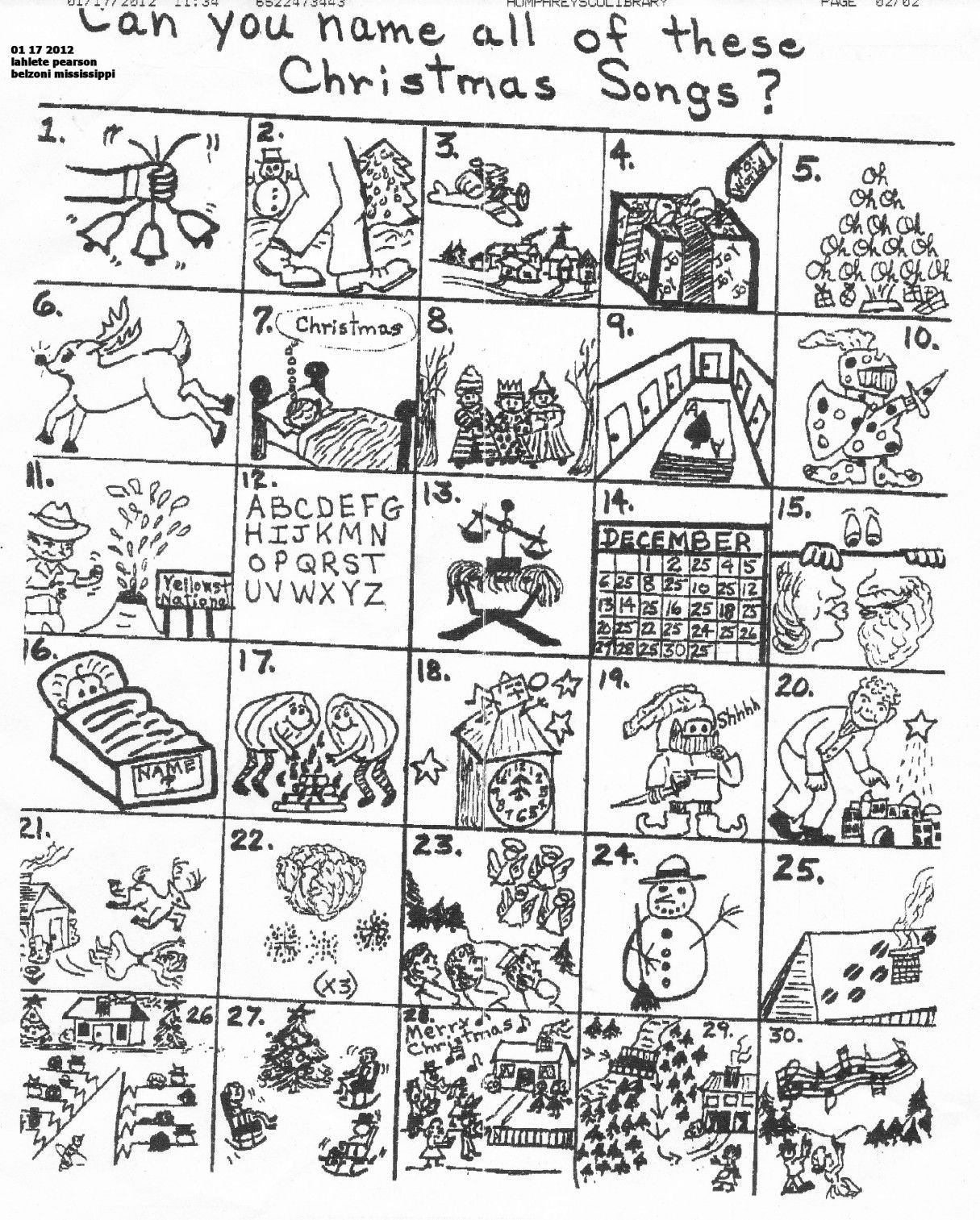 The Original Puzzle   Christmas Puzzles Printables