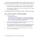 The Trenches Worksheet Answers - Promotiontablecovers