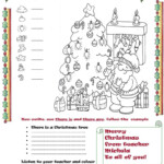There Is And There Are At Christmas - English Esl Worksheets