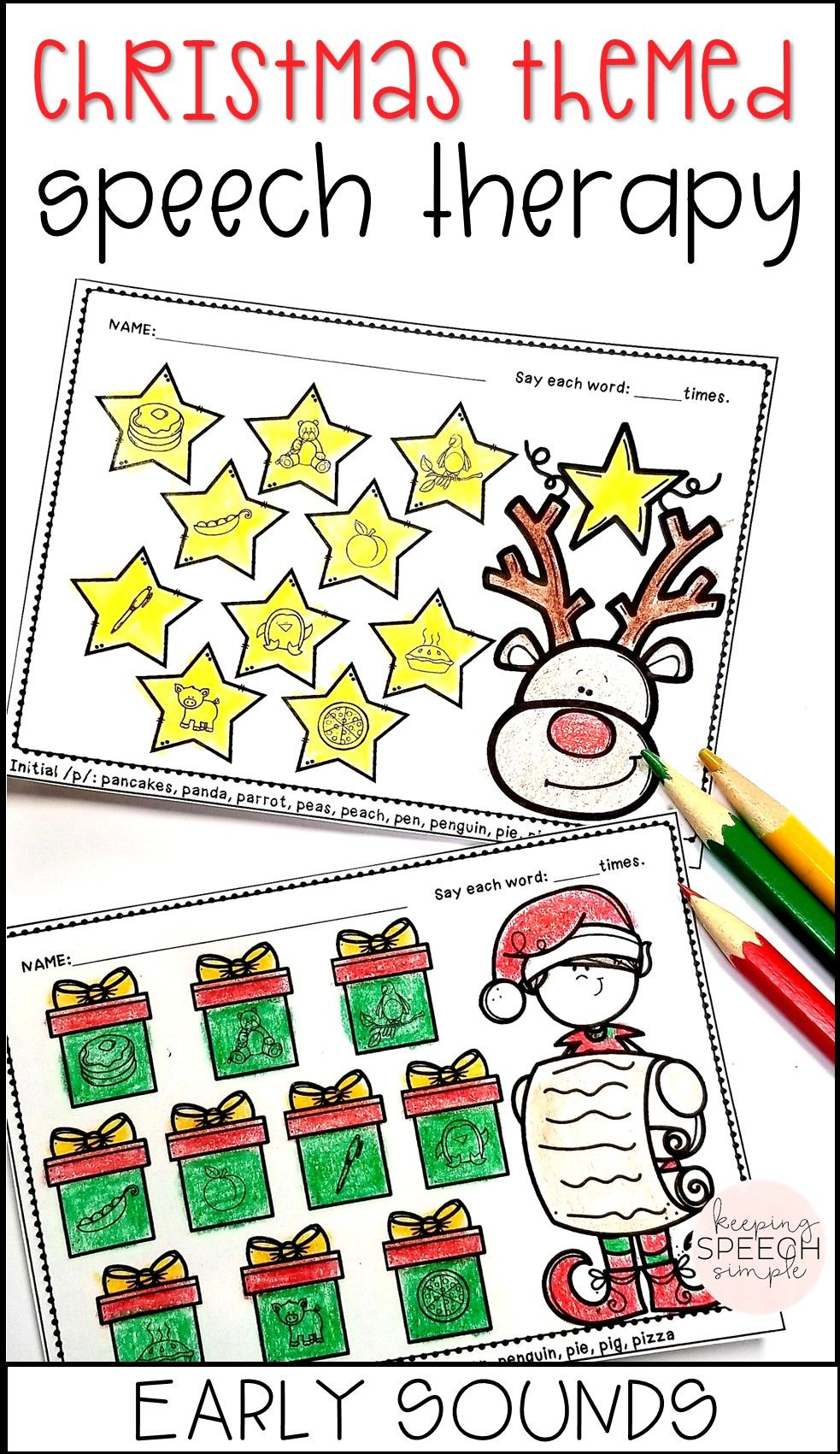 These Adorable No Prep Speech Therapy Worksheets Are A Must