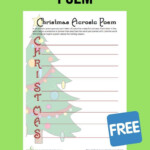 This Christmas Acrostic Poem Exercise Is A Great Way To Hone
