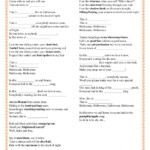 This Is Halloween - The Nightmare Before Christmas Worksheet