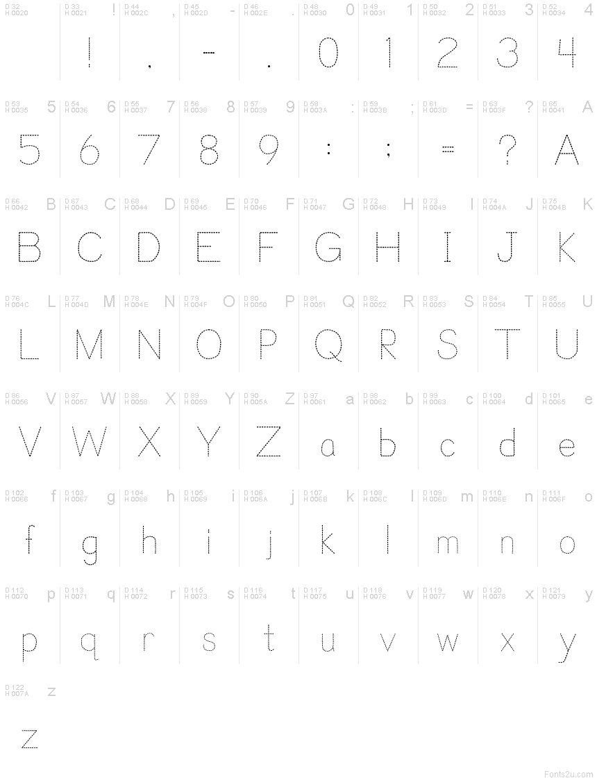 Trace Font For Kids Font