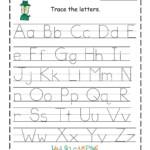 Trace The Alphabet   Handwriting Worksheets For Kindergarten