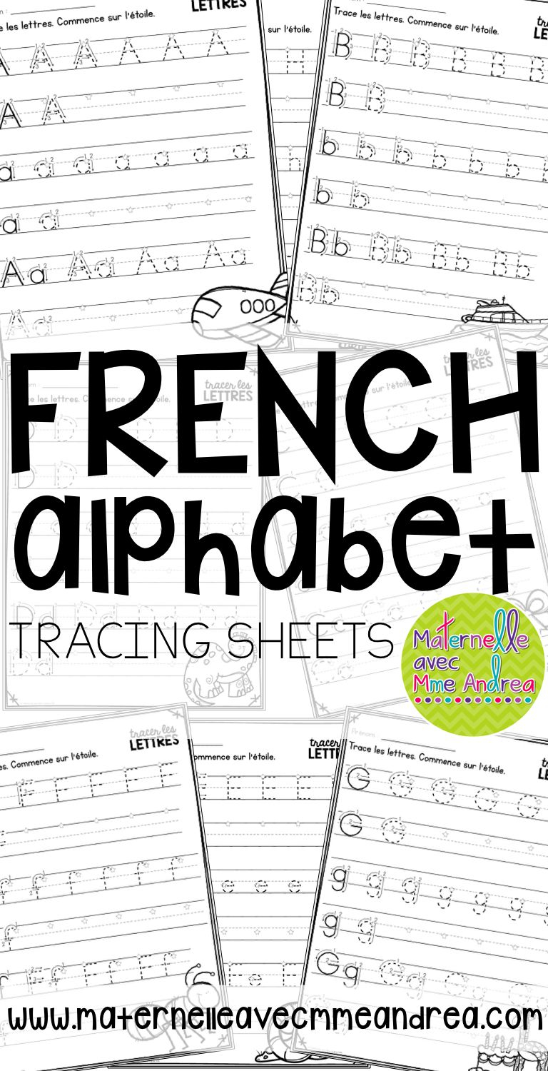 Tracer Les Lettres - French Alphabet Tracing Practice