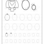 Tracing Alphabet Letter O. Black And White Educational Pages