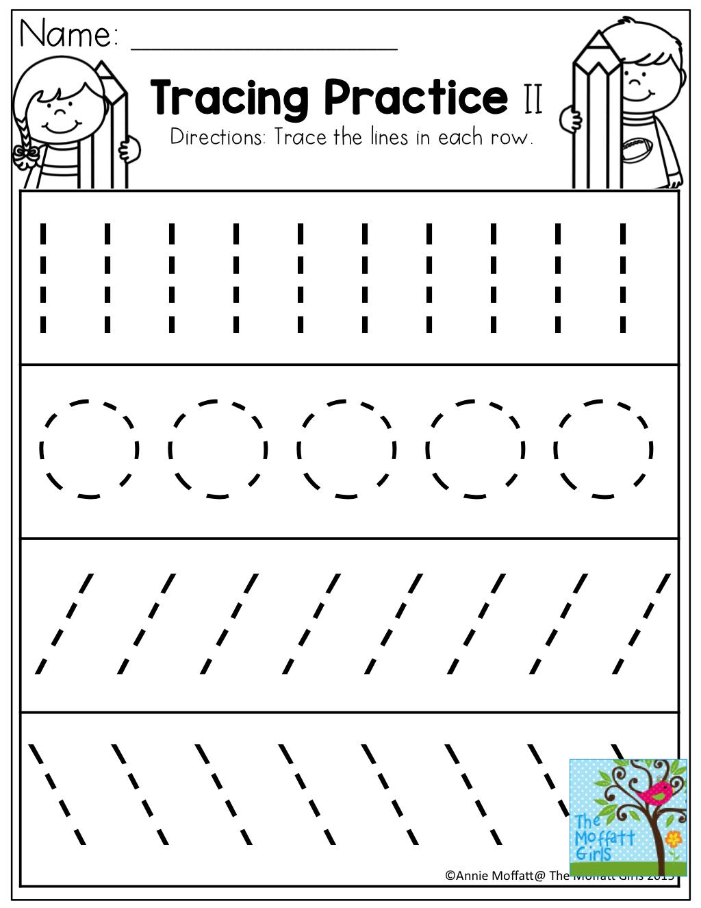 Tracing Lines Circles Writing | Tracing Worksheets Preschool