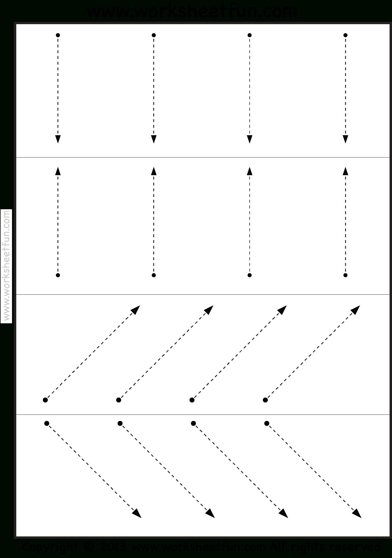 Tracing Lines | Tracing Worksheets Preschool, Preschool