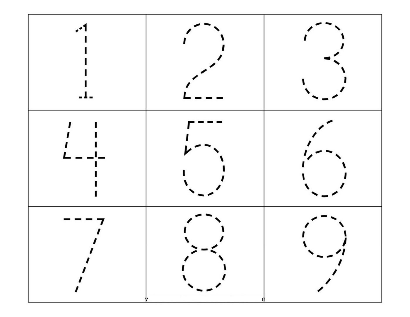 Tracing Numbers 1-9 For Kg Fun | Number Worksheets, Tracing