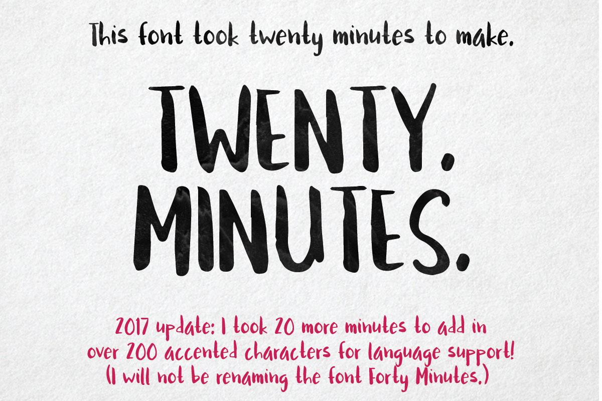 Twenty Minutes - A Free Brushed Handwriting Font. On Behance