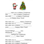 We Wish You A Merry Christmas Cloze - English Esl Worksheets