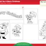 We Wish You A Merry Christmas Worksheet - Color, Cut