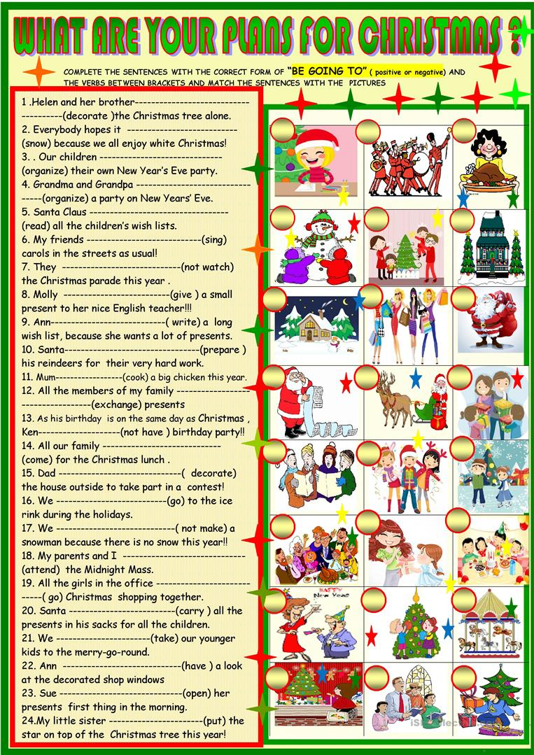 What Are Your Plans For Christmas ; Be Going To - English