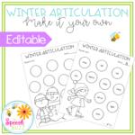 Winter Articulation - Editable | Christmas Teaching