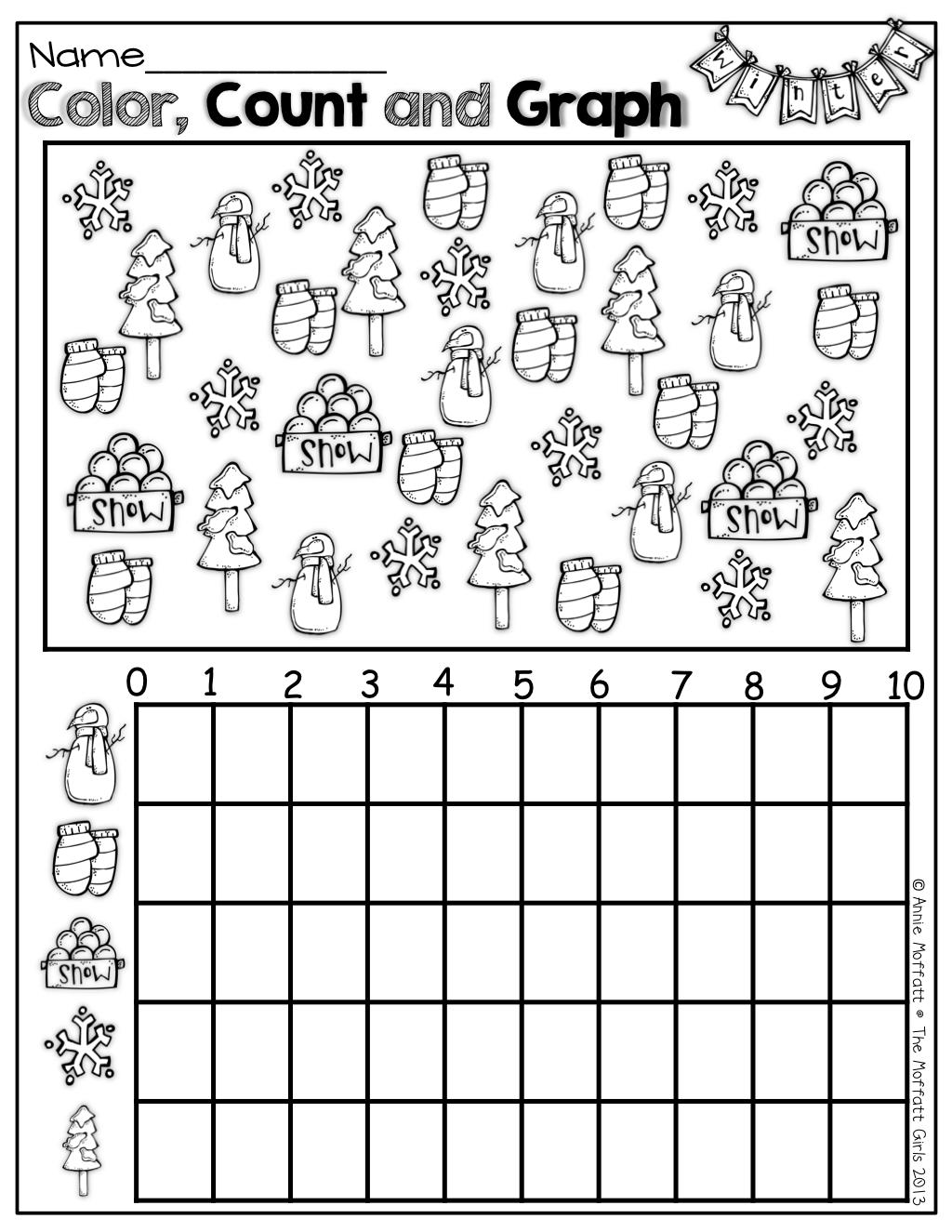 Winter Math And Literacy Packet (Kindergarten)!   Fall Math