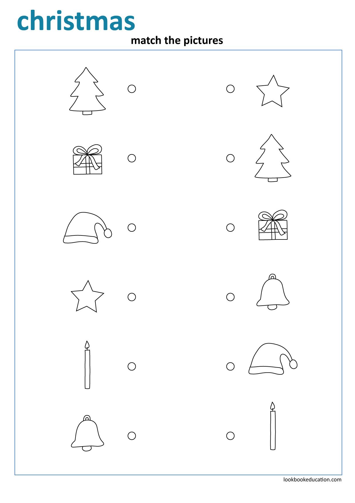 Worksheet Christmas Matching | Christmas Worksheets