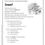 Worksheet ~ First Grade Reading Comprehension Worksheets
