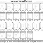 Worksheet ~ Tracing Capital Letters Train 1 Free Printable