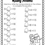 Worksheet ~ Winter Math And Literacy Printables No Prep 1St