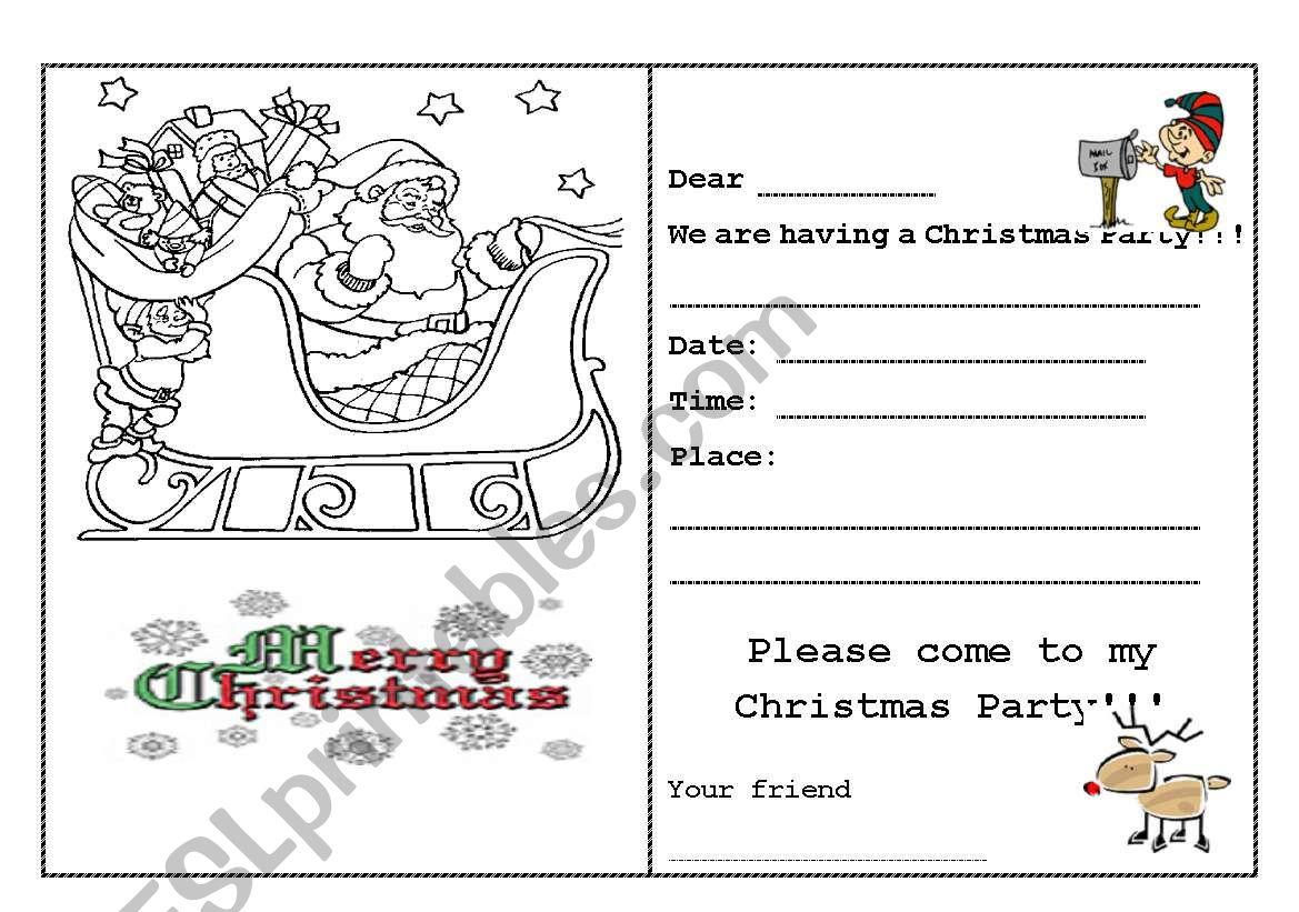 Writing - Christmas Card - Esl Worksheetepi_Nda