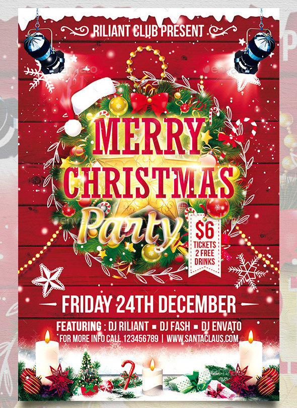24 Christmas Flyer Templates Download Documents In PSD