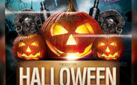 25 Hellacious PSD Halloween Flyer Templates 2015 Web