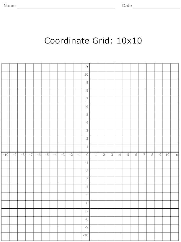 4 Best 10 By 10 Grids Printable Printablee