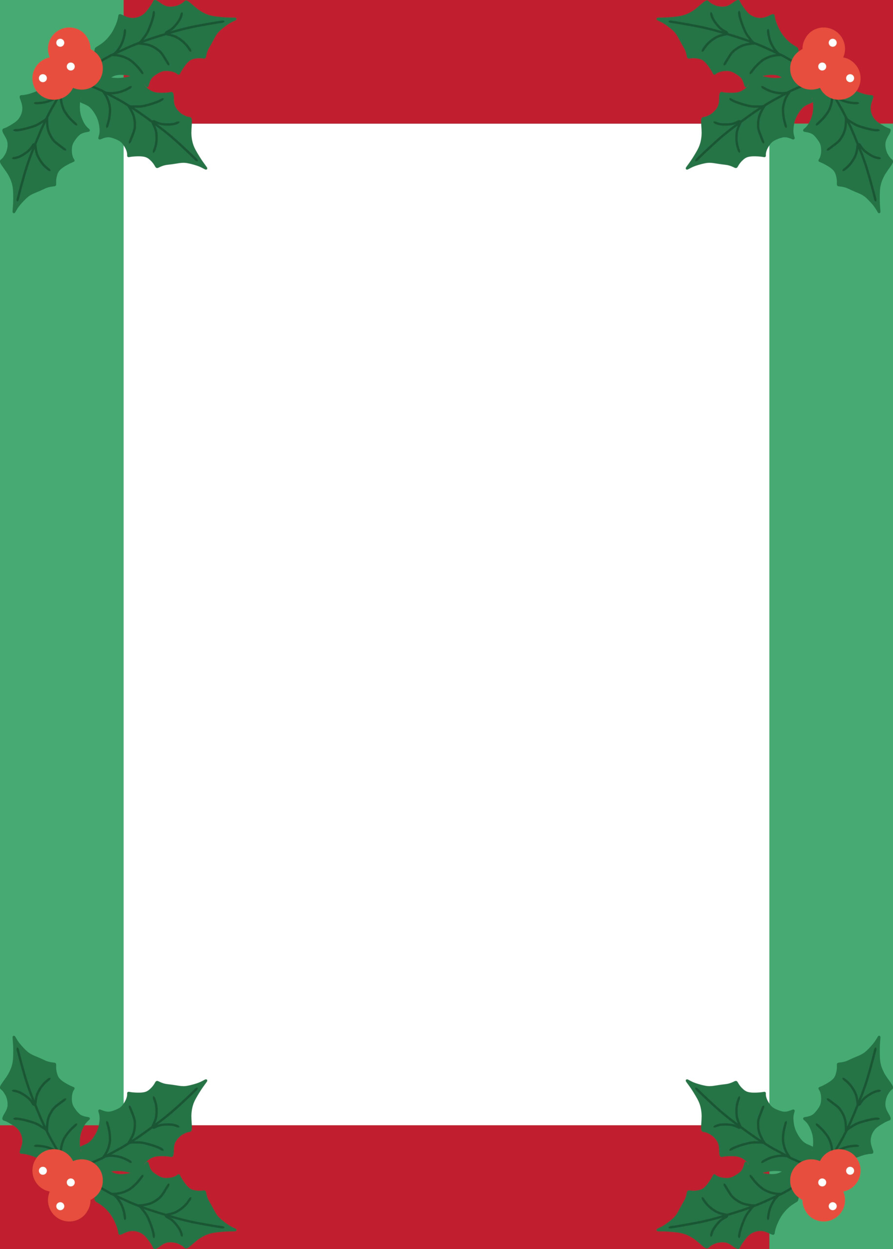 5 Best Images Of Free Printable Christmas Border Templates