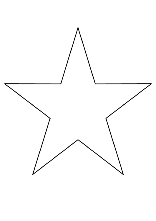8 Inch Star Template Printable Pdf Download