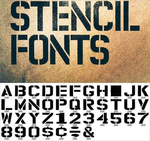 9 Stencils Letters Free Sample Example Format