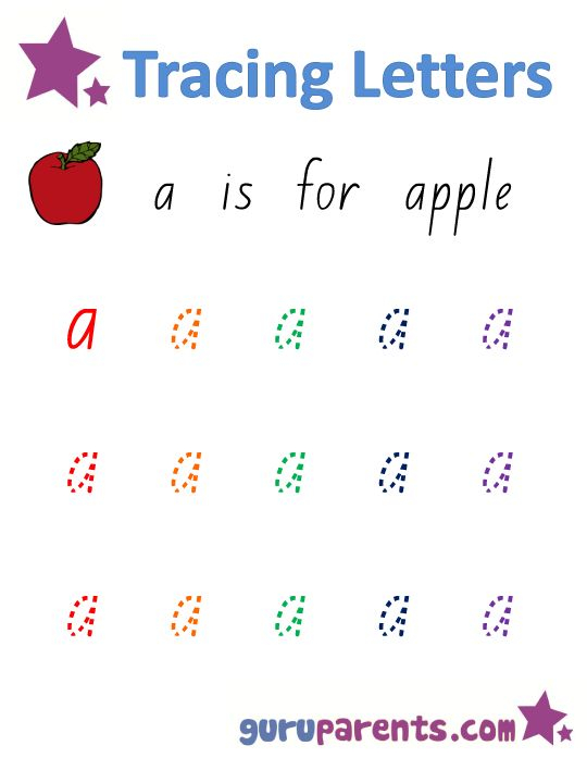 Alphabet Worksheet Handwriting Lowercase Letter A