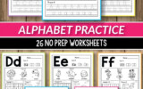 Alphabet Worksheets Pictures Of Alphabet Printable