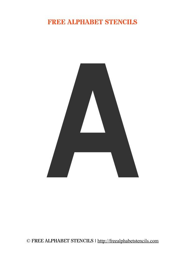 Army Letter Stencils Style 3 FreeAlphabetStencils