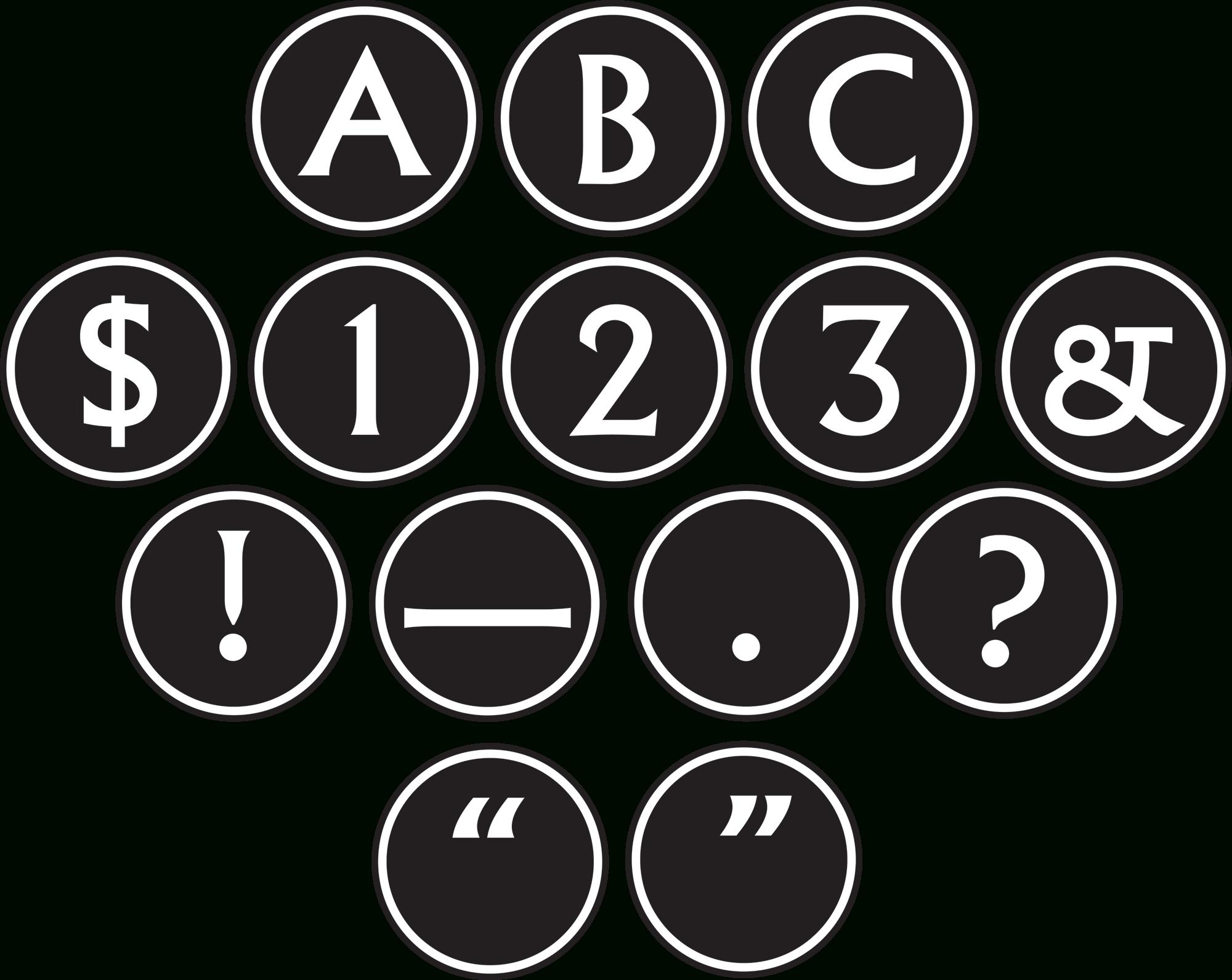 Big Bold Black White Circle Letters TCR75400 Teacher