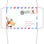 Craft Envelope Letter To Santa Claus Border Reindeer 14