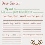 Dear Santa Letter Free Printable Father Christmas