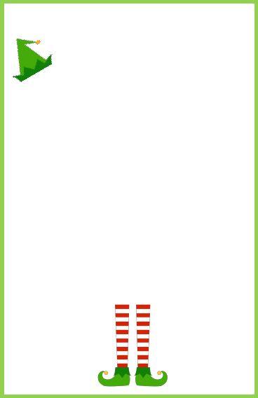 DIY Elf Letterhead Christmas Stationary Elf Letters