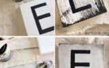 DIY Scrabble Tile Wall Decor Scrabble Wall Art Scrabble