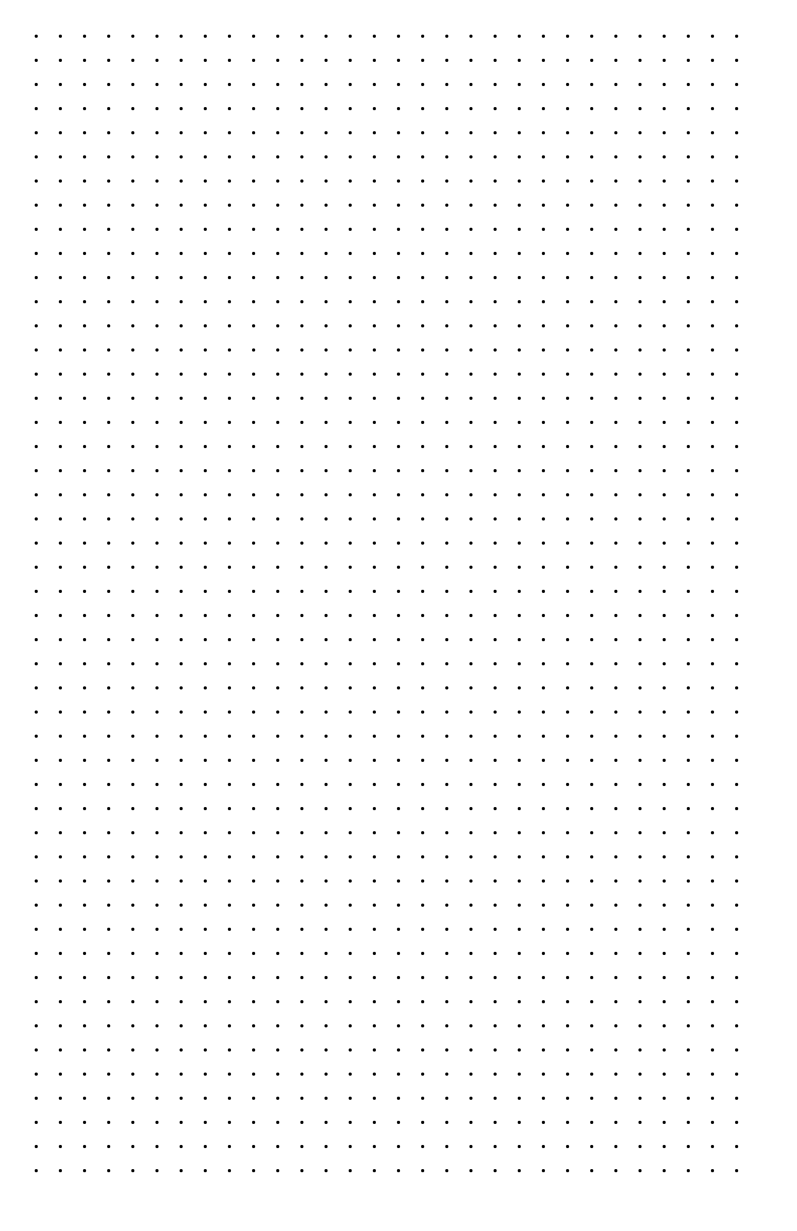 Dot Paper With Three Dots Per Inch On Ledger Sized Paper