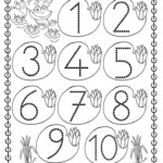 Easy Number Trace Worksheet 1 10 Number Tracing